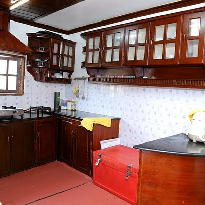 Kitchen on the Kerala Houseboat