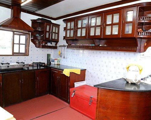 Kitchen on the Kerala Houseboat