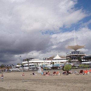 Ein grau-brauner Strand mit Steinen, wenig einladend