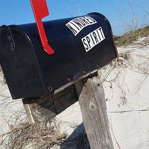 I love the Kindred Spirit mailbox. Worth the walk on this beautiful, pristine beach.