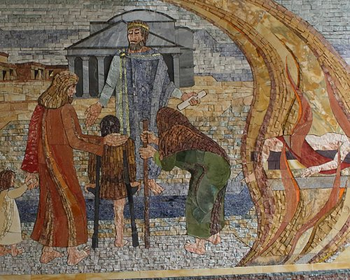 mosaic on west wall