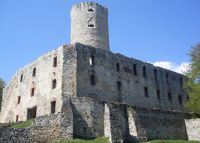 Zamek od strony drogi