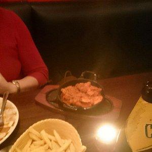 Beautiful meal in Eastenders restaurant.