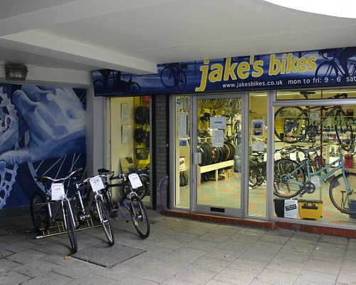 Exterior with hire bikes