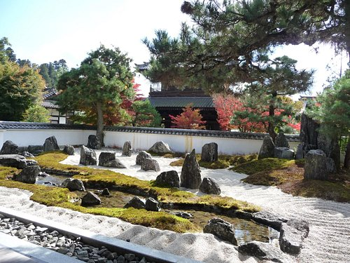 Garden with artificial stream designed for aristocratic game