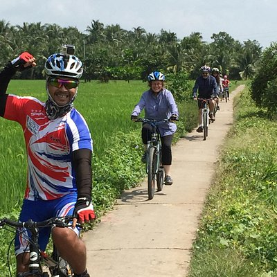 Sene leading through rice fields