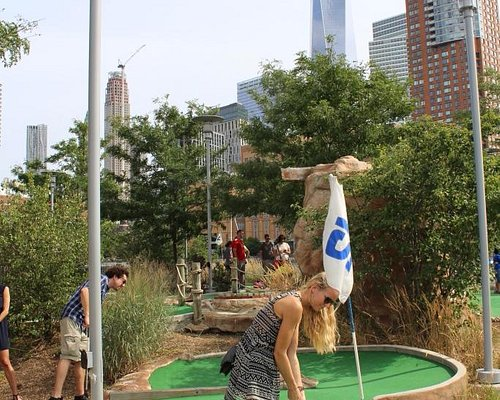 Artificial Golf Course at the pier