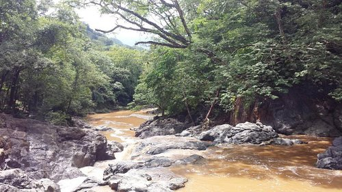 Belen Falls view from above after rain (wet season July-Nov)