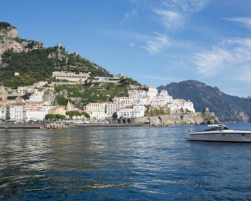 38 foot Boat floating off the coast of Amalfi