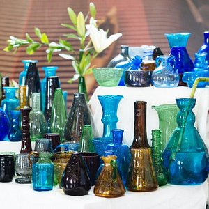 Hand-Blown Recycled Glass