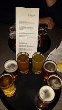 The flight of beer we had :)