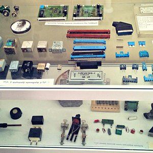 One display case at the Yerevan Museum of Science & Technology