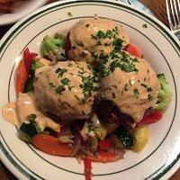 Veggie Balls w/Sauteed Veggies & Coconut Curry