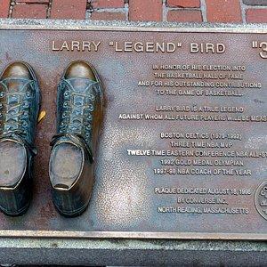 Larry Bird Plaque at Quincy Market in Boston
