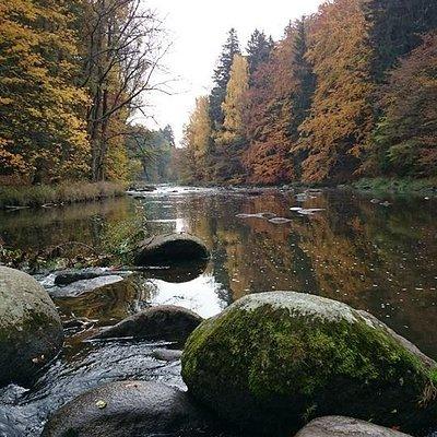 川沿いのハイキングコース
