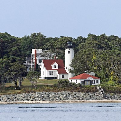 A view of the lighthouse from the ferry.