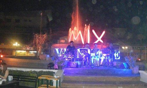 噴水前のライブ