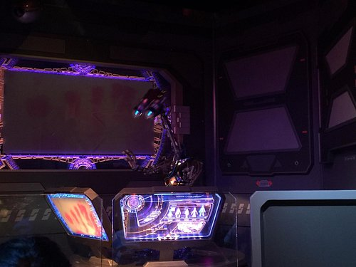 Command control droid - very chatty to guests.  I couldn't honestly tell if it was live or memor