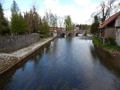 Ribnica, water Ribnica near the castle