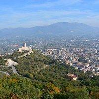 Vista della rocca dall'abbazia di Cassino