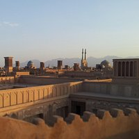 Visit the unique view of Yazd fom the Art house rooftop