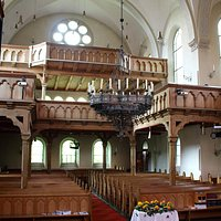 interior nave and balcony