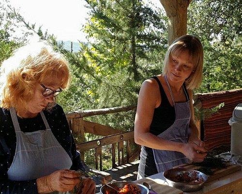 Cooking in Kas - Making Mezes Easy