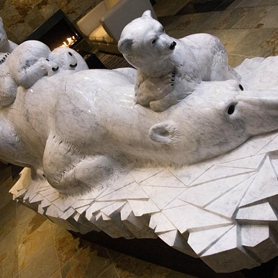 Life Size Polar Bear MOTHER'S GEMS made in Whistler by Fathom