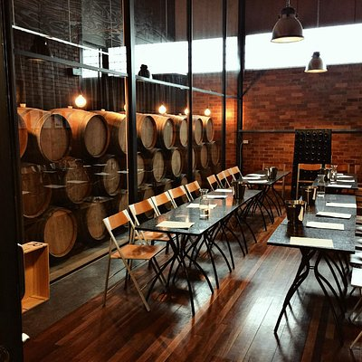 Try a private tasting experience inside a barrel room
