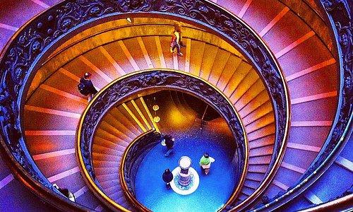 Лестница,ведущая на выход из Музея
