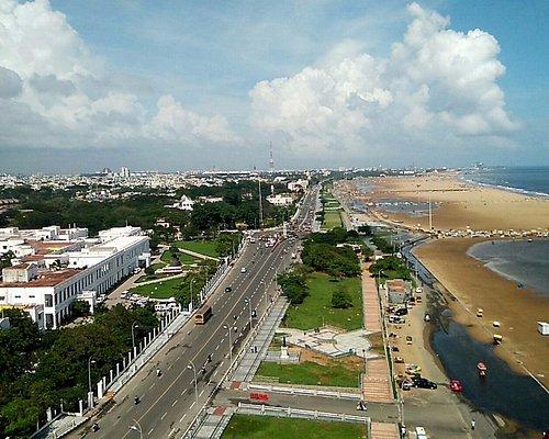 The city view from Lighthouse near Marina beach