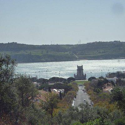vista a la torre de belem