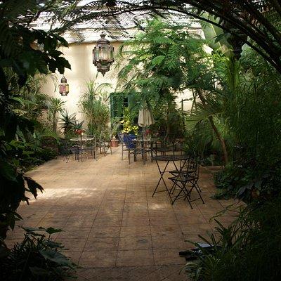 conservatory tasting room, villa catalana cellars