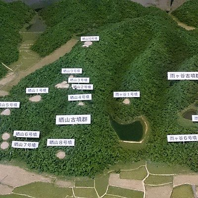 晒山古墳群模型(紀伊風土記の丘資料館)