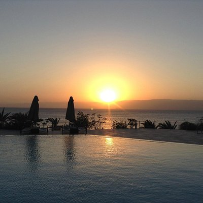 overlooking Pool and the Red Sea