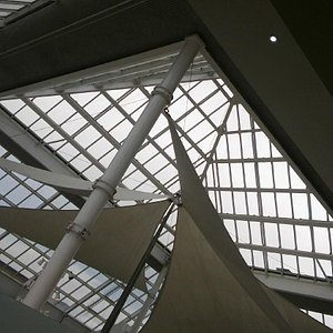 view of the skylight from the third floor