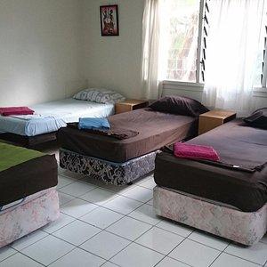 Beds in dorm room