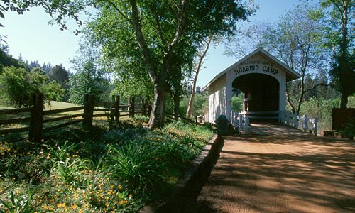Covered Bridge at Roaring Camp Railroads - Photo courtesy of Roaring Camp Railroads