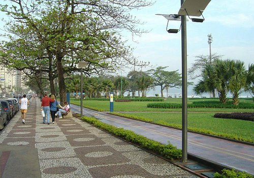Calçadão da praia de Santos