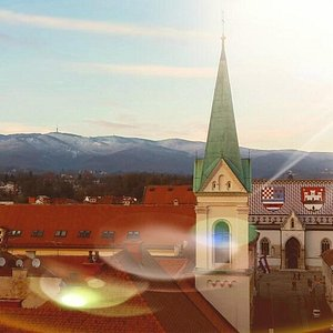 Zagreb mountain and Upper town