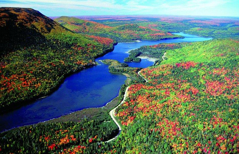 Restigouche River in the fall
