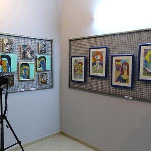 """Vue de l'expo """"Miniatures"""""""