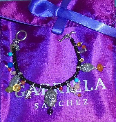 Gabriela Sanchez De Los Muertos bracelet, ordered online, came from Mexico, and I had it within
