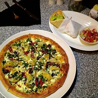 The Greek pizza and gyro…Amazing food!!!!