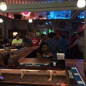 Bar a bit more crowded