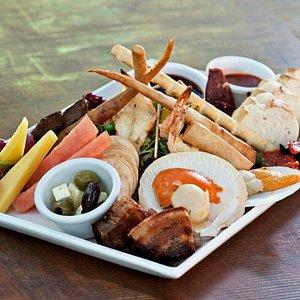 Generous Lunch Platter Woody Nook winery.