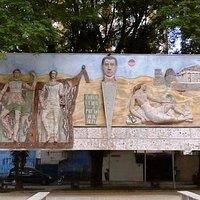 painel homenagem ao poeta Paulo Eiró