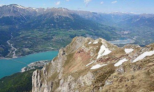 Lac de Serre Ponçon depuis le Pic Morgon