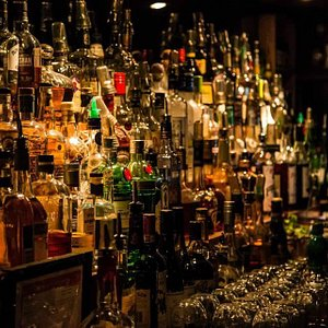 Lots of local spirits and an extensive selection of scotch and whiskeys