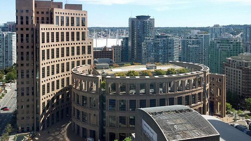 Vancouver Library as viewed from 18 stories up
